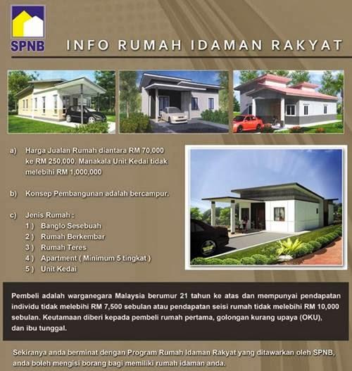 Borang Online Permohonan Dan Pendaftaran Rumah Idaman Rakyat Spnb