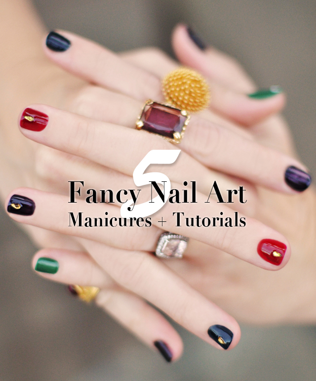 5 Fancy nail art manicures