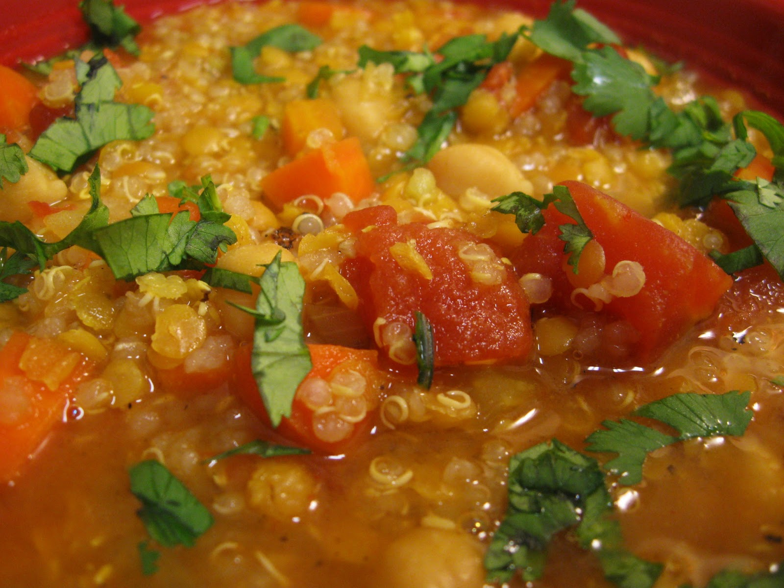Above Hoarded Gold: Curried Lentil, Chickpea, and Quinoa Soup