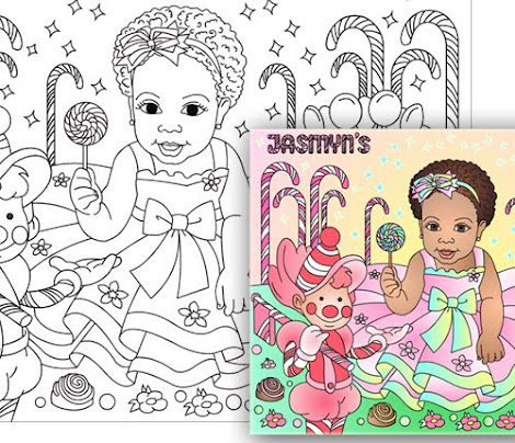 CANDY LAND * CUSTOM COLORING PAGE