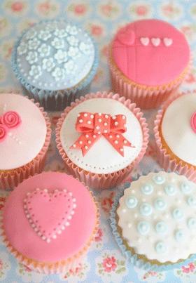 cupcake con decoración infantil