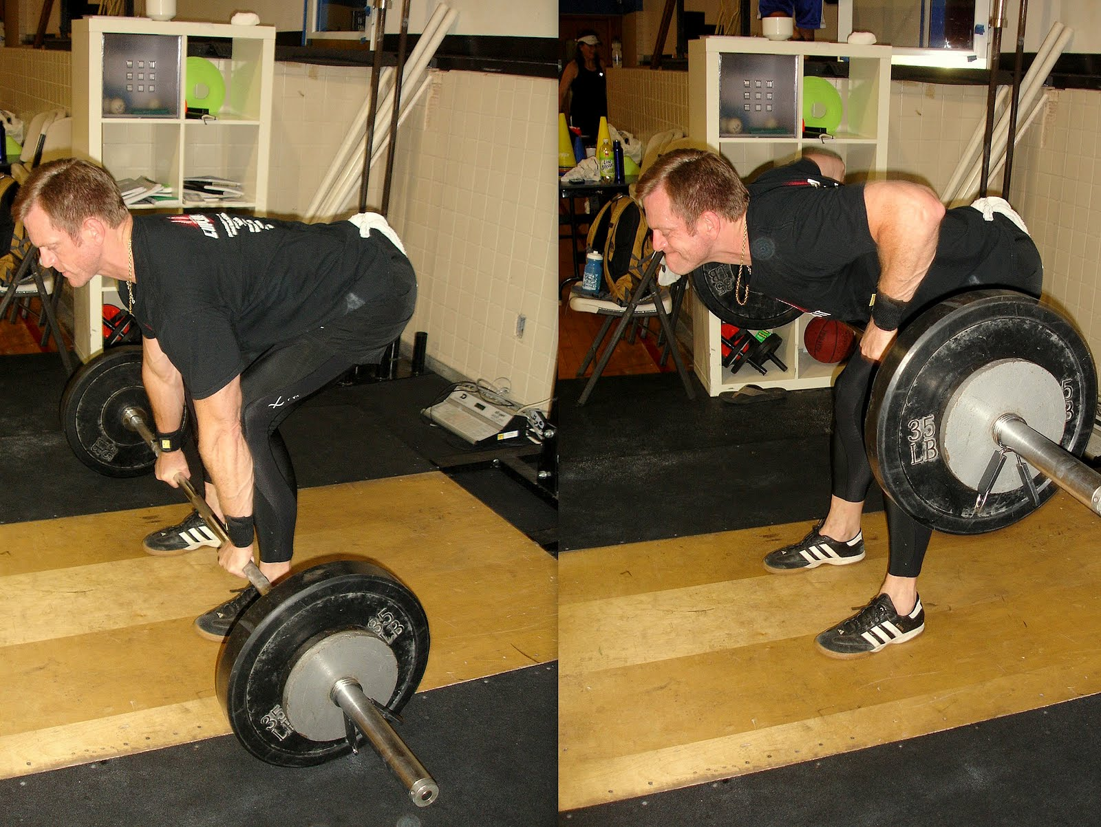 The Combo Sets Consisted Of One Set Of 5 Pendlay Rows, Followed Immediately  By A Set Of 20 DB Bench Press. Weight For The DB Bench Was Up To The  Individual, ...