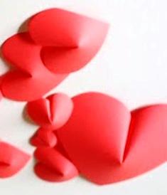 Trick MemBentuk hati 3 Dimensi dari Kertas Lipat