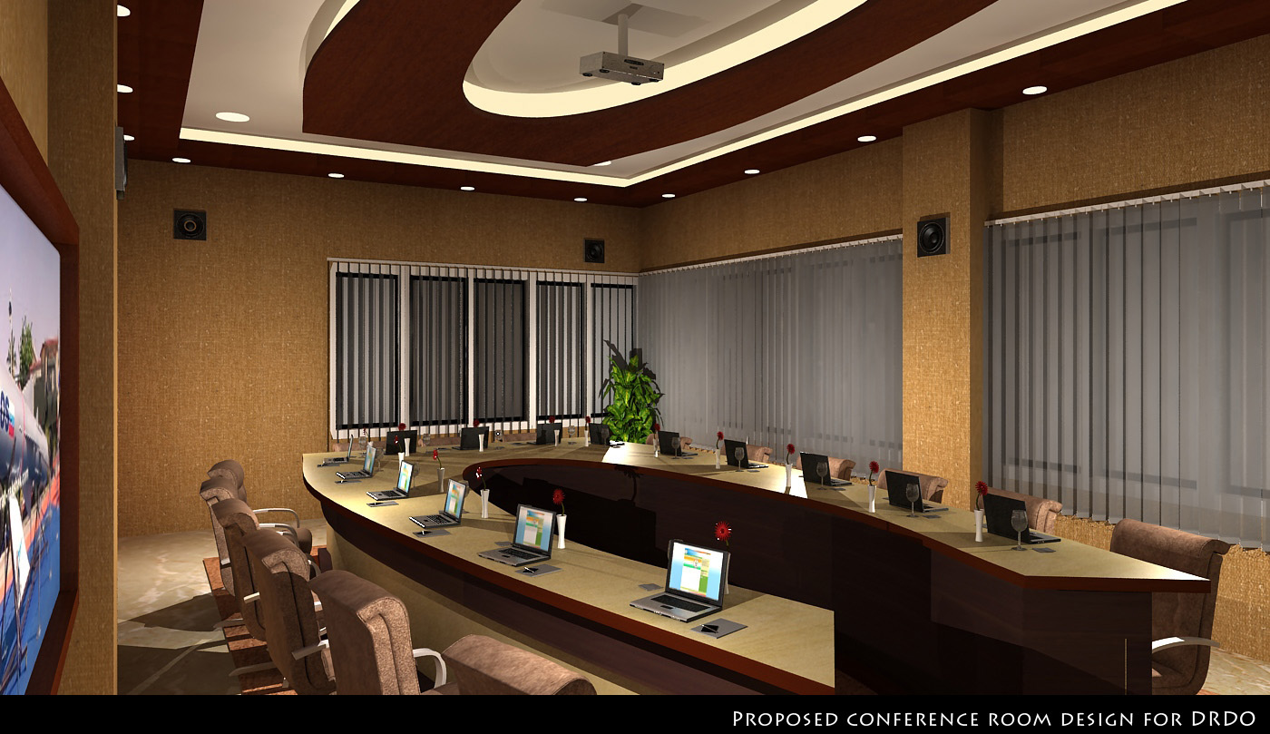 bhavya 3d interior designer conference hall
