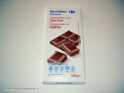 Chocolate con leche CARREFOUR DISCOUNT