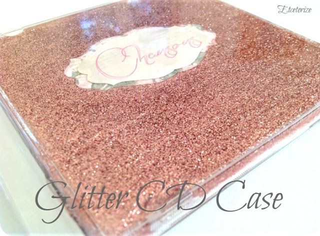 glitter CD, CD Case repurpose