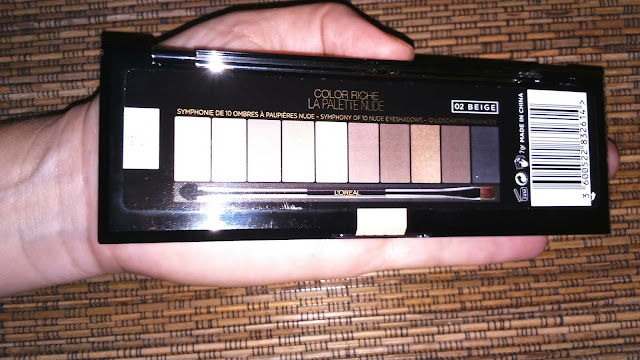 L'oreal La Palette Nude Beige, the back