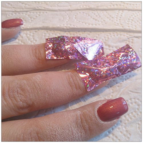 how to put nail foil on shellac