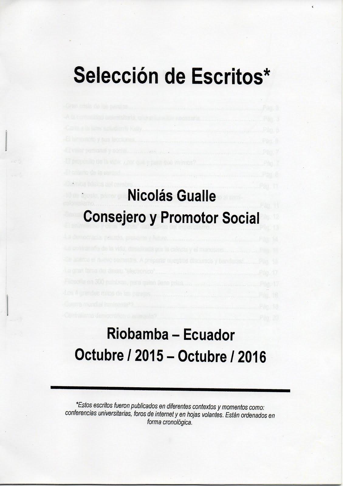 SELECCIÓN DE ESCRITOS - NICOLÁS GUALLE