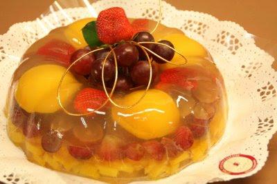 Gelatina de frutas variadas