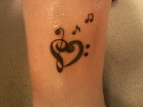 forastitchinthyme music note tattoos for girls. Black Bedroom Furniture Sets. Home Design Ideas