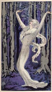 Arabella, zealot of the White Worm.  illustration from Bram Stoker's  1st ed. Lair of the White Worm.  Image courtesy Wikipedia.
