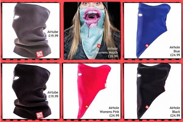 Ladies Airhole masks, plain Airholes & Airtubes