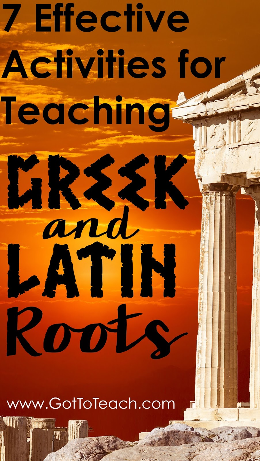 Teaching Greek and Latin Roots Got to Teach – Latin Root Words Worksheet