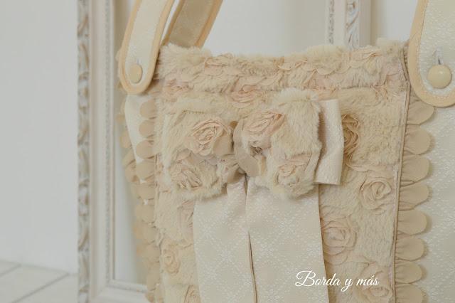 bolsa panera pelo de rosas