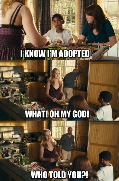 Spoiler Alert - Easy A - I  Know I'm Adopted