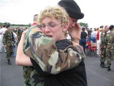 Soldado llorando