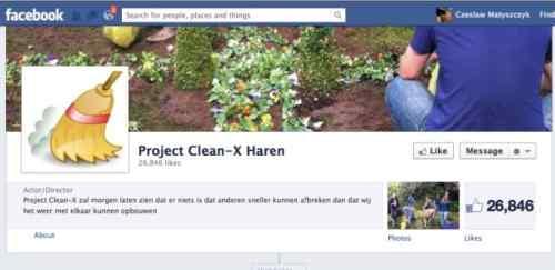Project Clean-X Haren Facebook