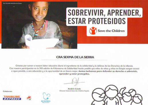 Colaboramos cada año con Save the Children 2016