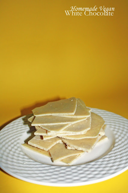 homemade vegan white chocolate