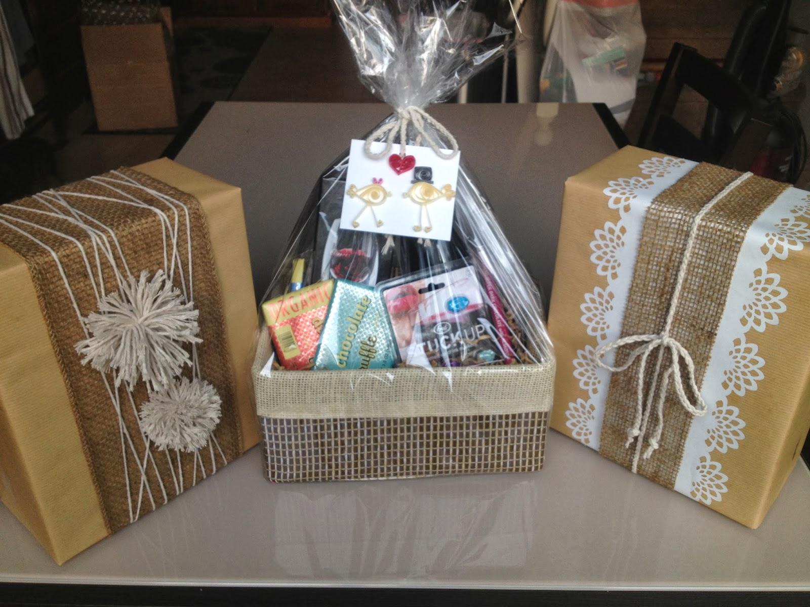 How to wrap a wedding gift basket lading for 4 think shell appreciate the thought put into her gift and how pretty negle Choice Image