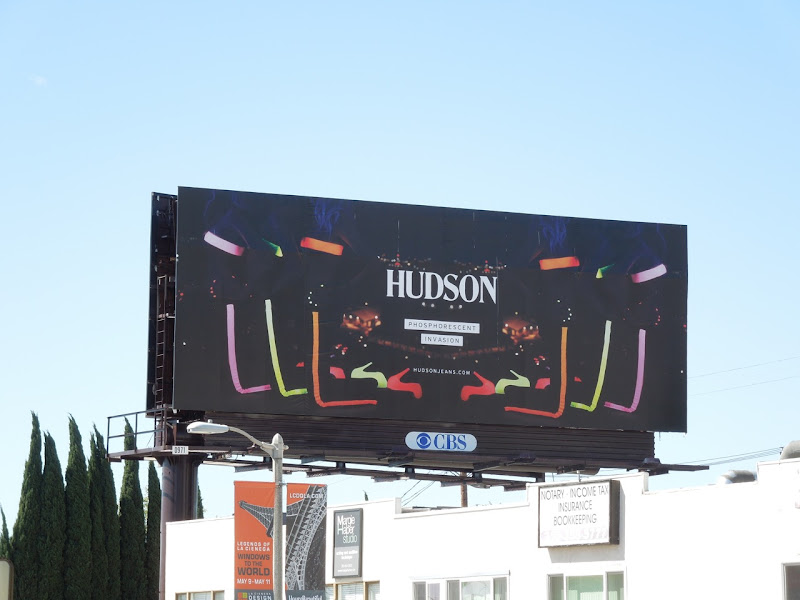 Hudson phosphorescent billboard