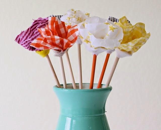Flores de Tela Reciclada, Ideas para el Dia de la Madre