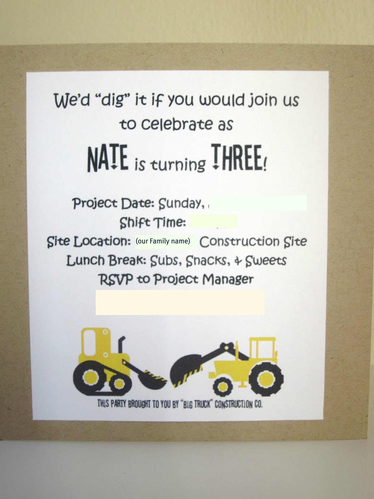 Embellishing Life: This Little Guy\'s Construction Party Invite