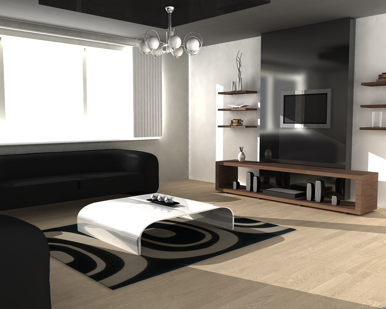 20 modern contemporary living rooms modernistic design. Black Bedroom Furniture Sets. Home Design Ideas