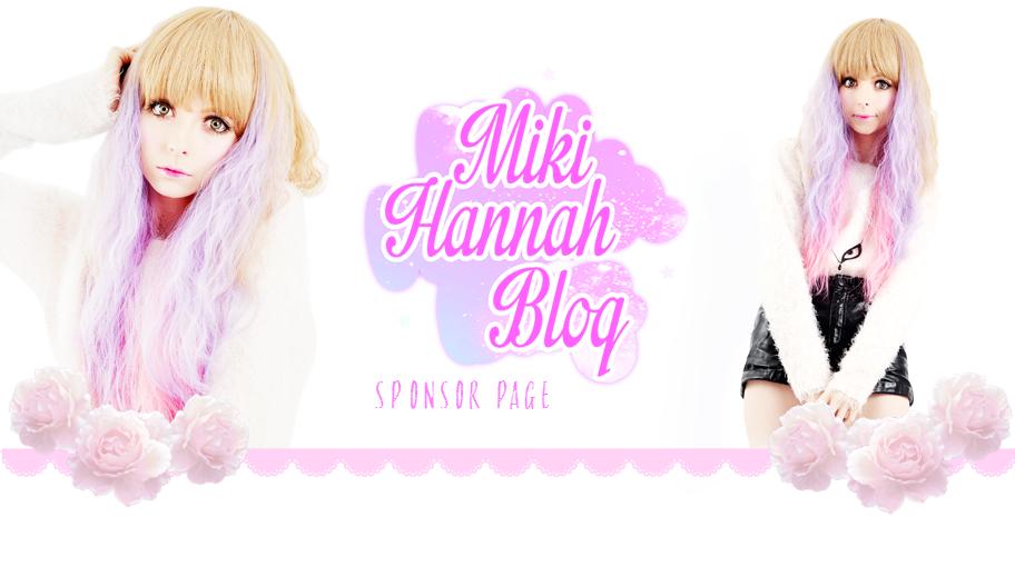 Miki Hannah Blogs Sponsors