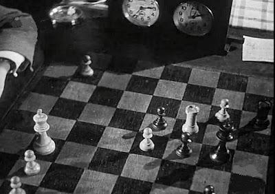 Posición final de la partida Pomar-Ribeiro en el II Encuentro Ibérico de Ajedrez 1946