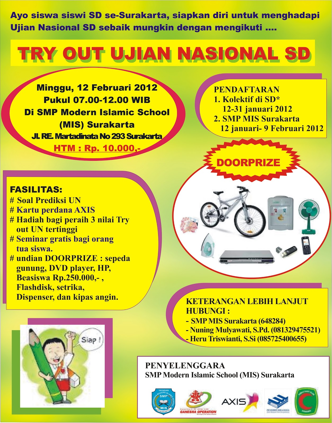 TRY OUT UJIAN NASIONAL SD SURAKARTA