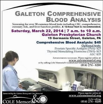 3-22 Galeton Comprehensive Blood Analysis