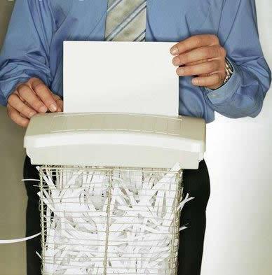 Following Orders Paper+shredder