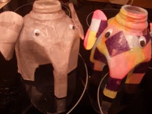 Milk carton elephants