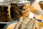 Banana Cake with Peanut Butter Ganache