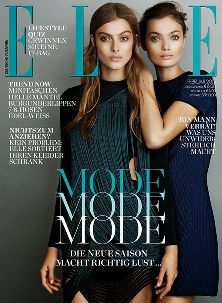Lone Praesto Nordström & Moa Aberg by Johnny Backius For Elle, Germany, February 2015