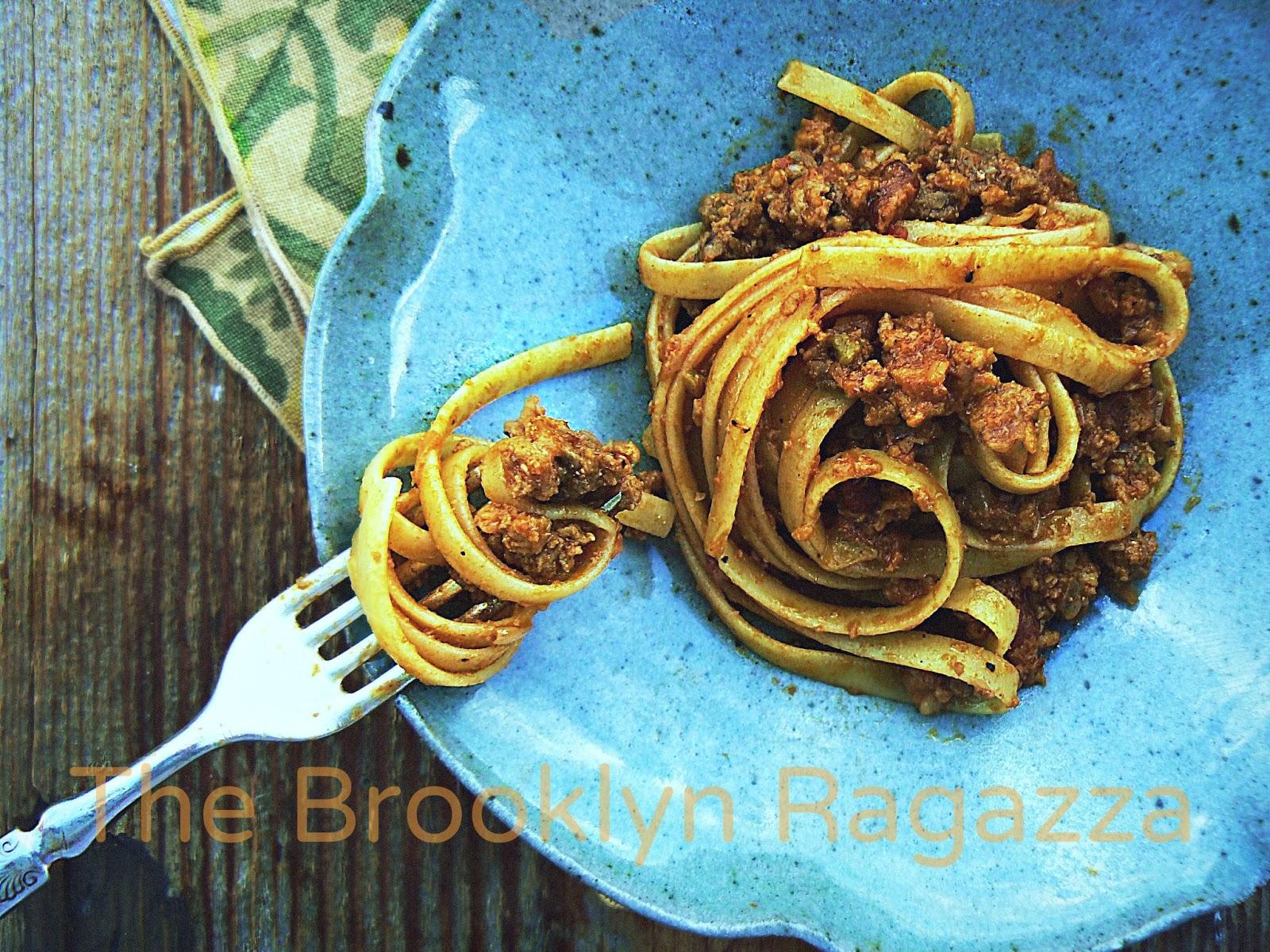 The Brooklyn Ragazza: Fettuccini with Smoky Sausage Ragu Bolognese