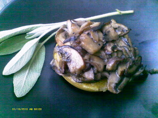 Gluten free Mushroom Tart