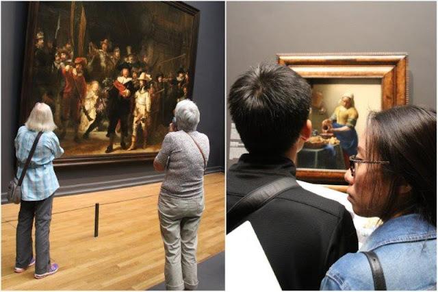 La ronda de noche y La lechera en el museo Rijksmuseum de Amsterdam
