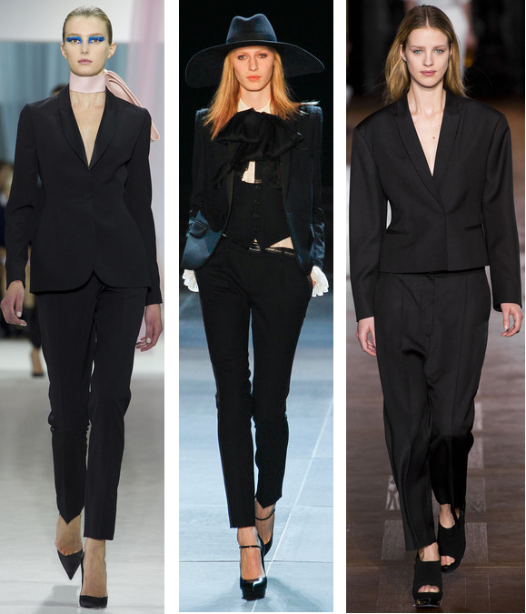 Spring 2013 Suit Trends: Christian Dior// Saint Laurent// Stella McCartney