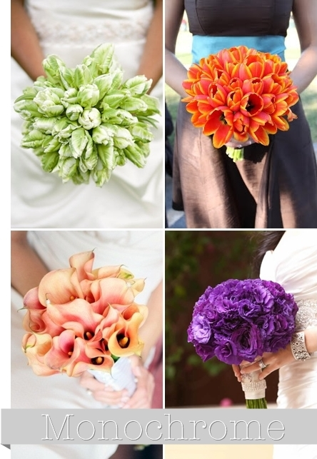 monokroma buketter, enfärgad bukett, monchrome bouquet, monochrome bridal bouquet, enfärgad brudbukett