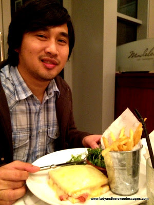 Ed in Madeleine Cafe