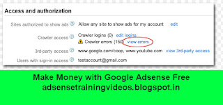 Website ke Robots.txt file me Adsense ke Crawler ko Access kaise provide kare?