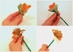 Making coffee filter flowers