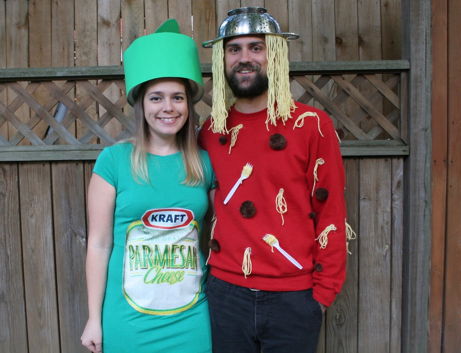 our halloween costumes spaghetti parmesan cheese
