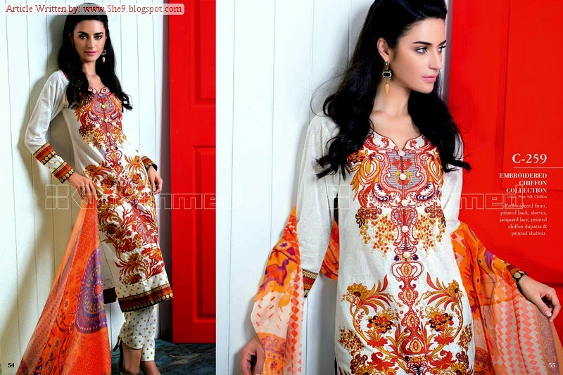 Gul Ahmed Midsummer Embroidered and Printed Chiffon