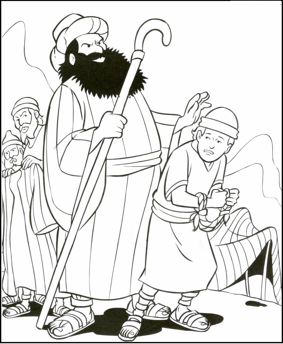 Dibujos De Los hermanos de José en Egipto Para Colorear