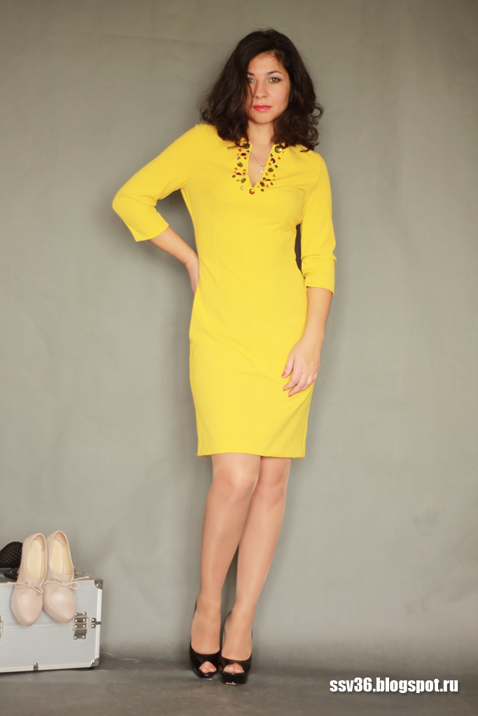 Как сшить желтое платье