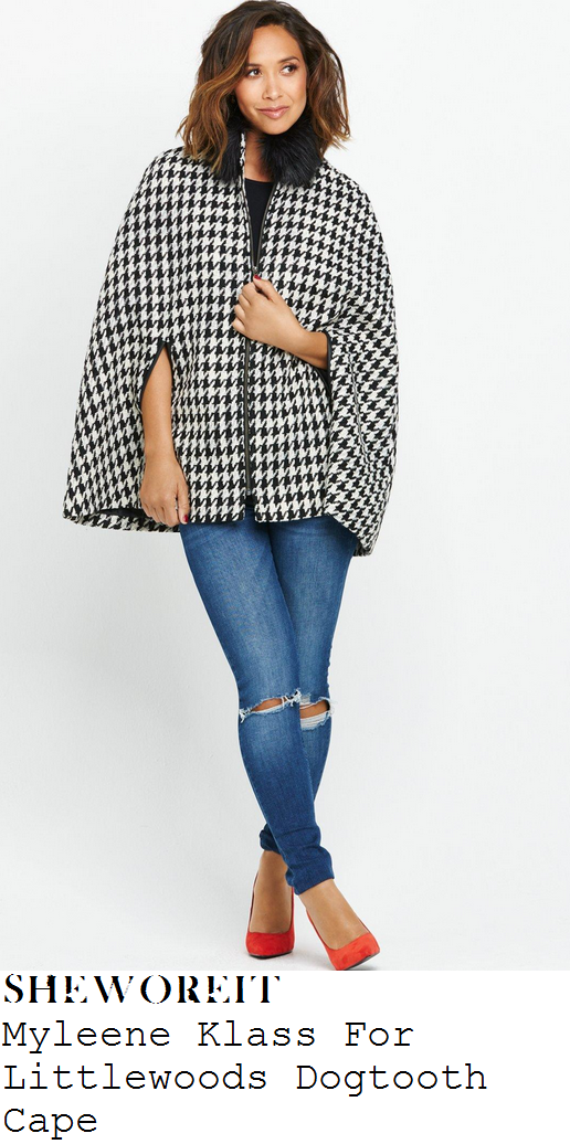 myleene-klass-black-white-dogtooth-cape